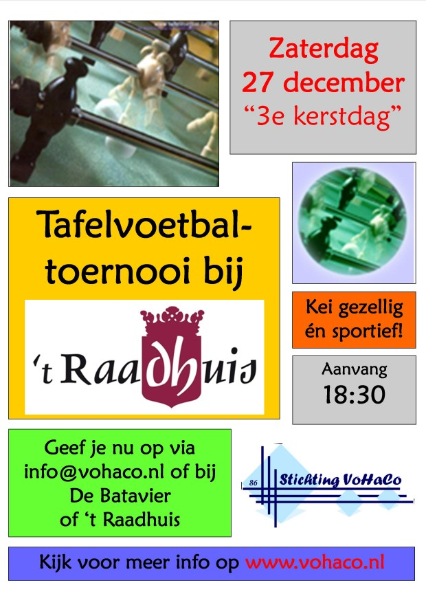 Flyer - Tafelvoetbal Toernooi